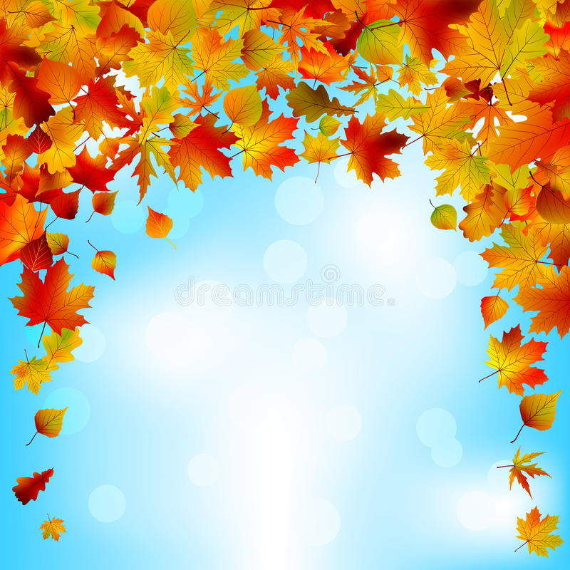 Free Autumnal Sky Bright Design. EPS 8 Royalty Free Stock Image - 19819826