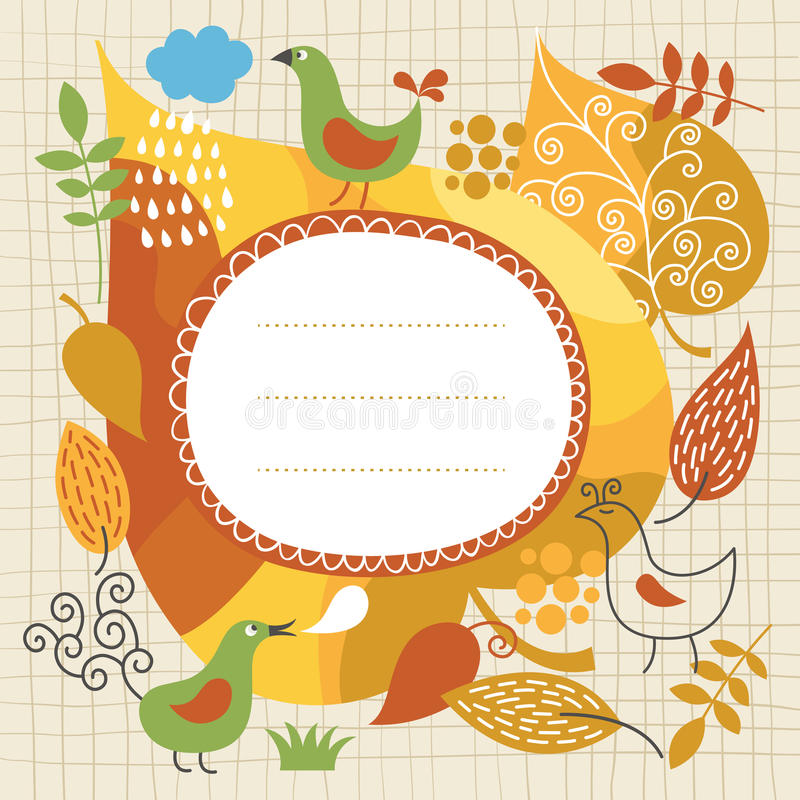 Download Autumnal theme stock vector. Image of notepaper, decorative - 25846511