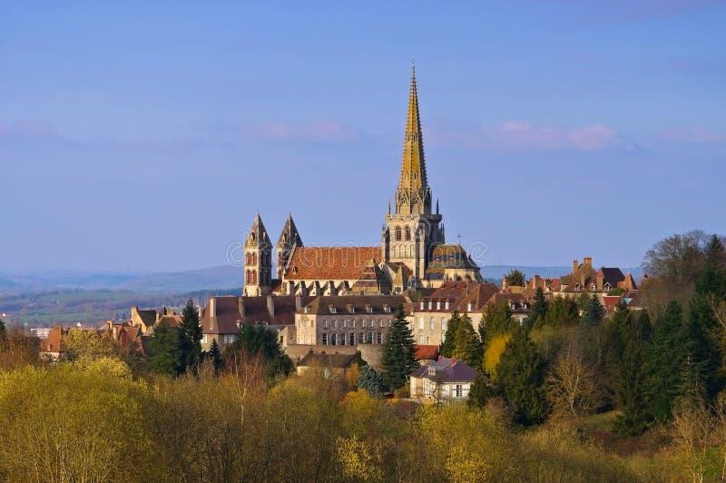 Autun em França, a catedral fotografia de stock