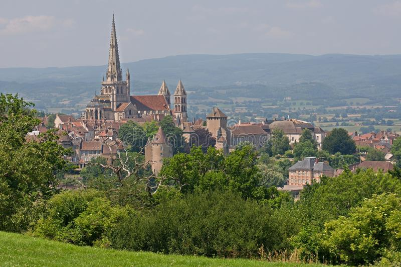 Autun, Francja fotografia stock