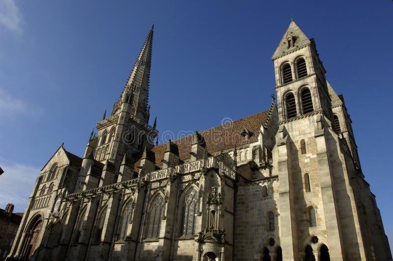 autun katedra obrazy stock