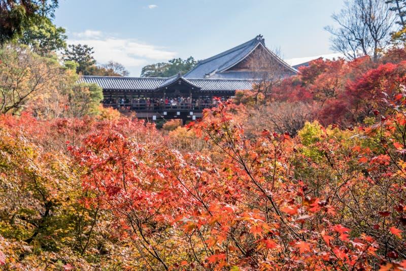 Autunno al tempio di tofukuji fotografie stock