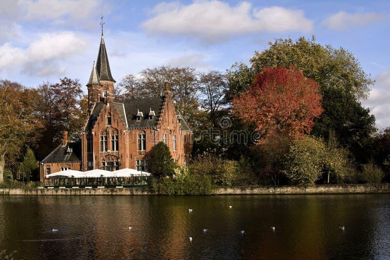Autunno a Bruges III fotografia stock
