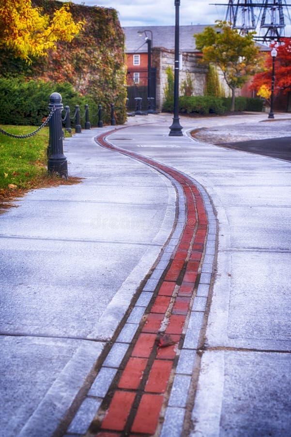 Autunno della traccia di libertà di Boston Massachusetts fotografia stock libera da diritti