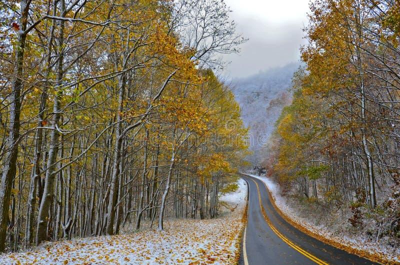 Autunno ed inverno fotografie stock libere da diritti