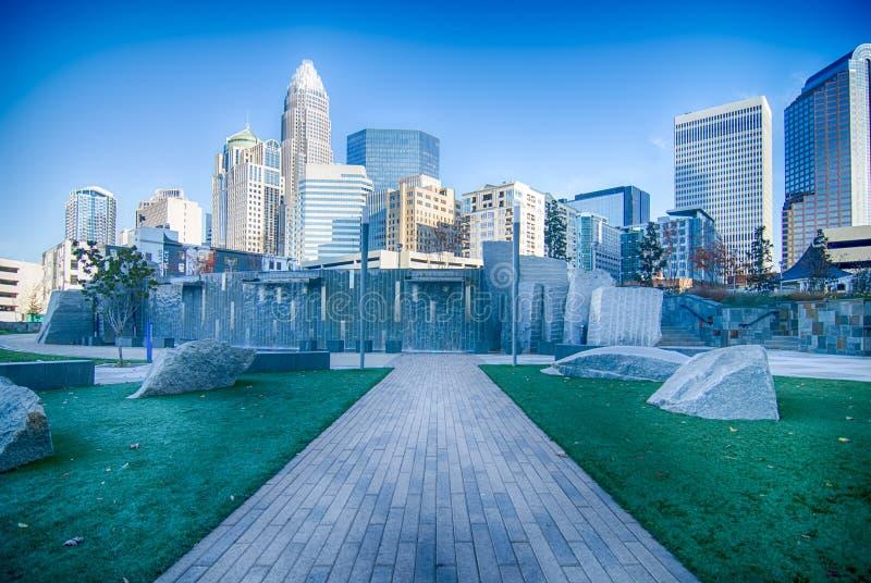 Autunno nel controllo di qualità della città di Charlotte di North Carolina fotografie stock libere da diritti