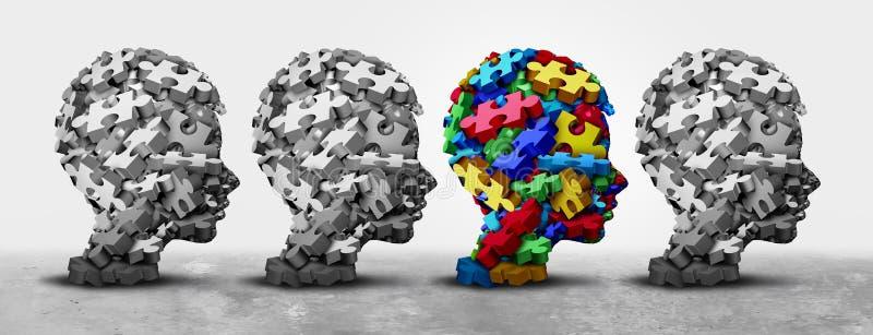 Autystyczny dziecko diagnozy ans objawów pojęcie ilustracji