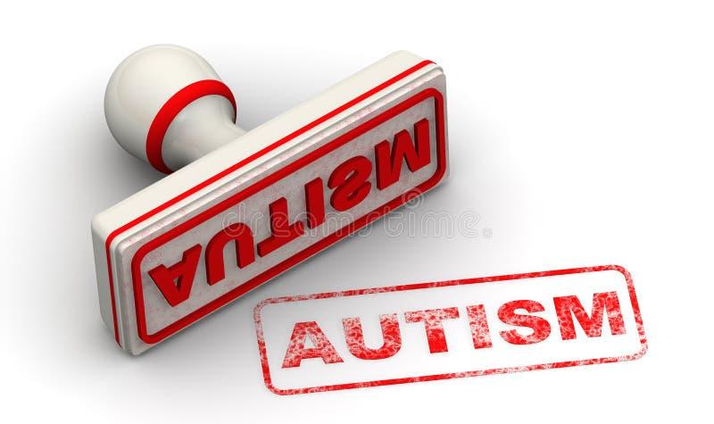 autystyczny Foka i odcisk ilustracja wektor