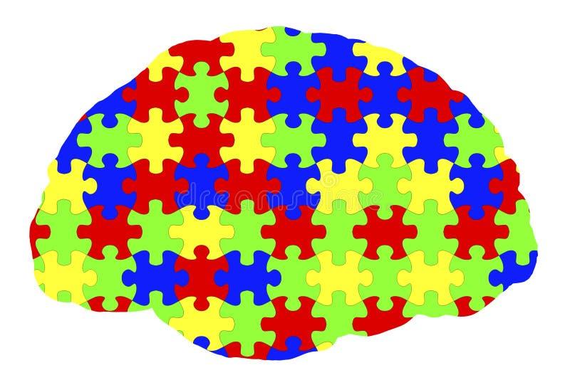 Autyzm świadomość i autystyczny nieładu pojęcie ilustracja wektor