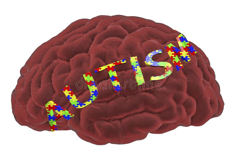 Autyzm świadomość i autystyczny nieładu pojęcie royalty ilustracja