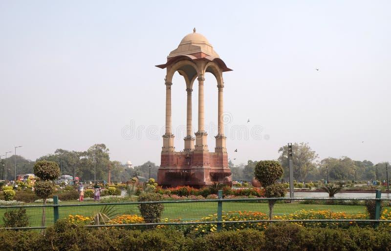 Auvent de George V à la porte d'Inde, Delhi photo stock