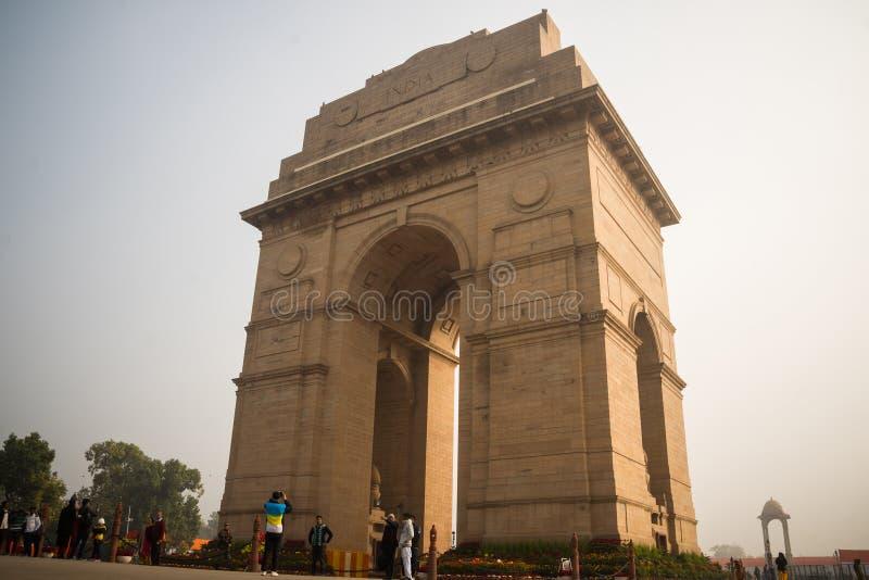 Auvent et porte d'Inde à New Delhi, Inde photo libre de droits