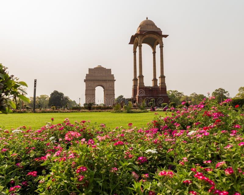 Auvent près de la porte d'Inde, Delhi photo libre de droits