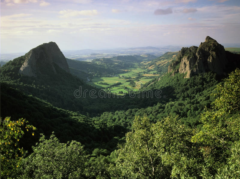 Auvergne lizenzfreies stockfoto