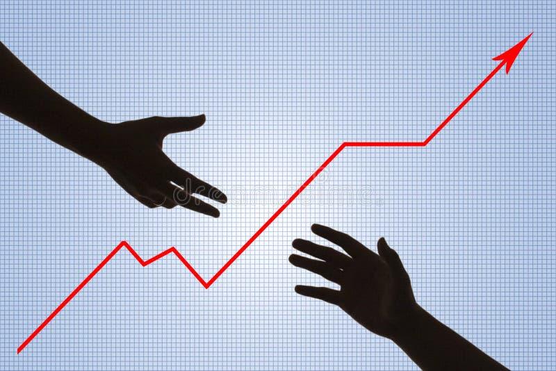 Auxílio do negócio (com trajeto de grampeamento) ilustração stock