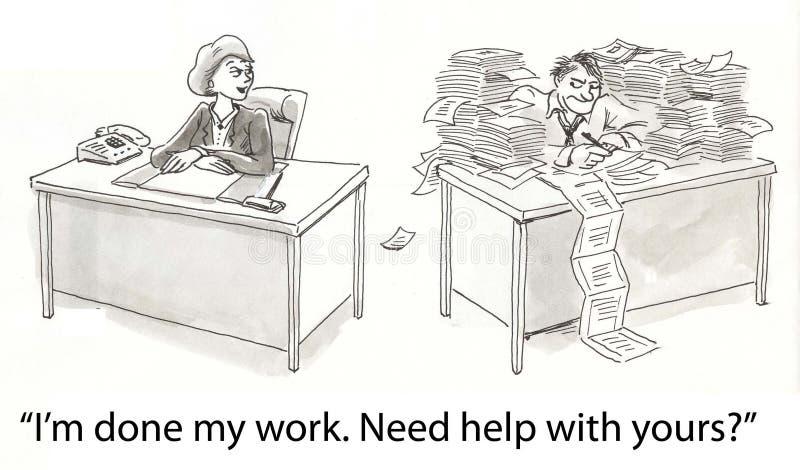 Auxílio do trabalho ilustração do vetor