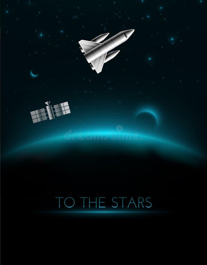 Aux étoiles illustration libre de droits