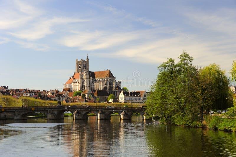Auxerre royalty-vrije stock afbeelding