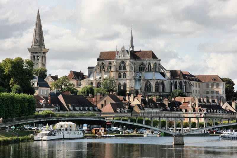 Auxerre immagine stock libera da diritti