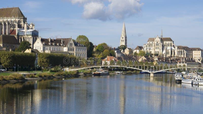Auxerre Burgunder Frankreich lizenzfreies stockfoto