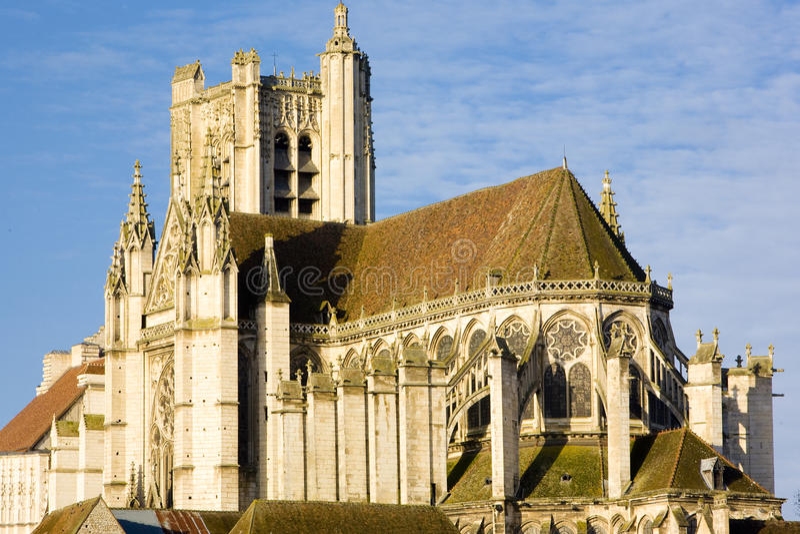 auxerre katedra obrazy royalty free