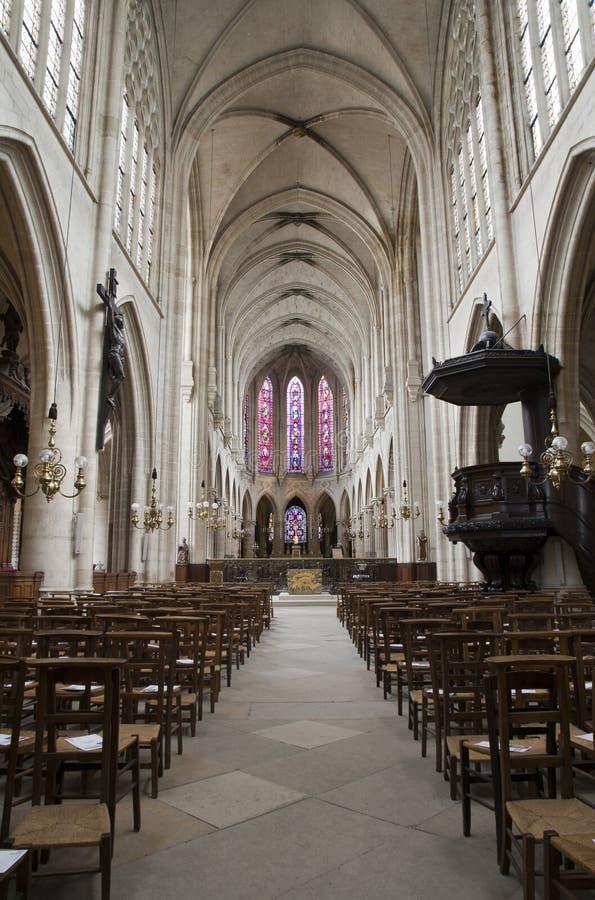 auxerrois教会germain l巴黎圣徒 免版税库存照片