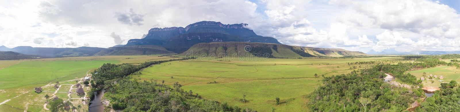 Panoramic View of Auyantepui Mountain, Venezuela stock image