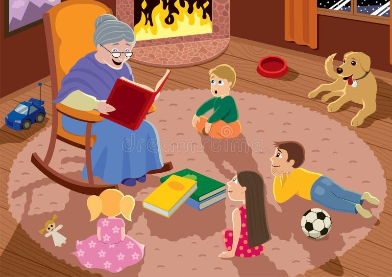 Avó ilustração royalty free
