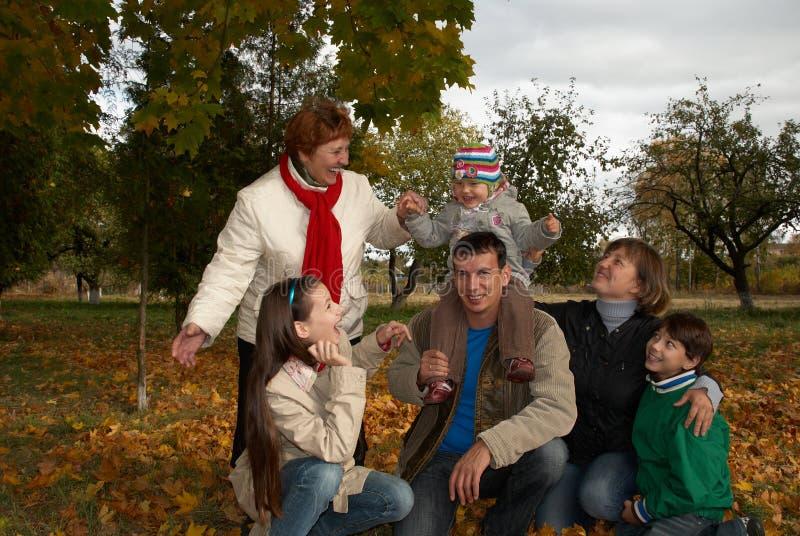 Avó com seus crianças e netos imagem de stock royalty free