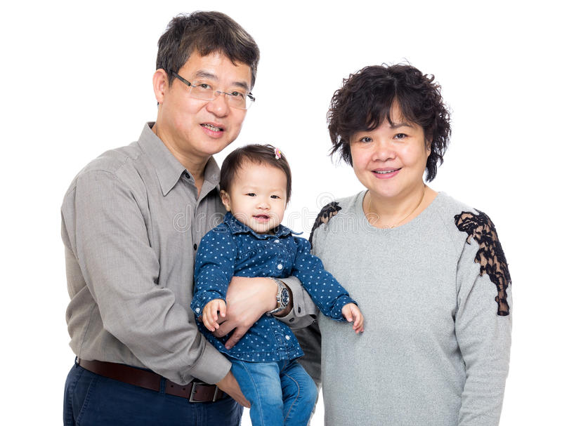Avó de Ásia com sua neta imagens de stock royalty free