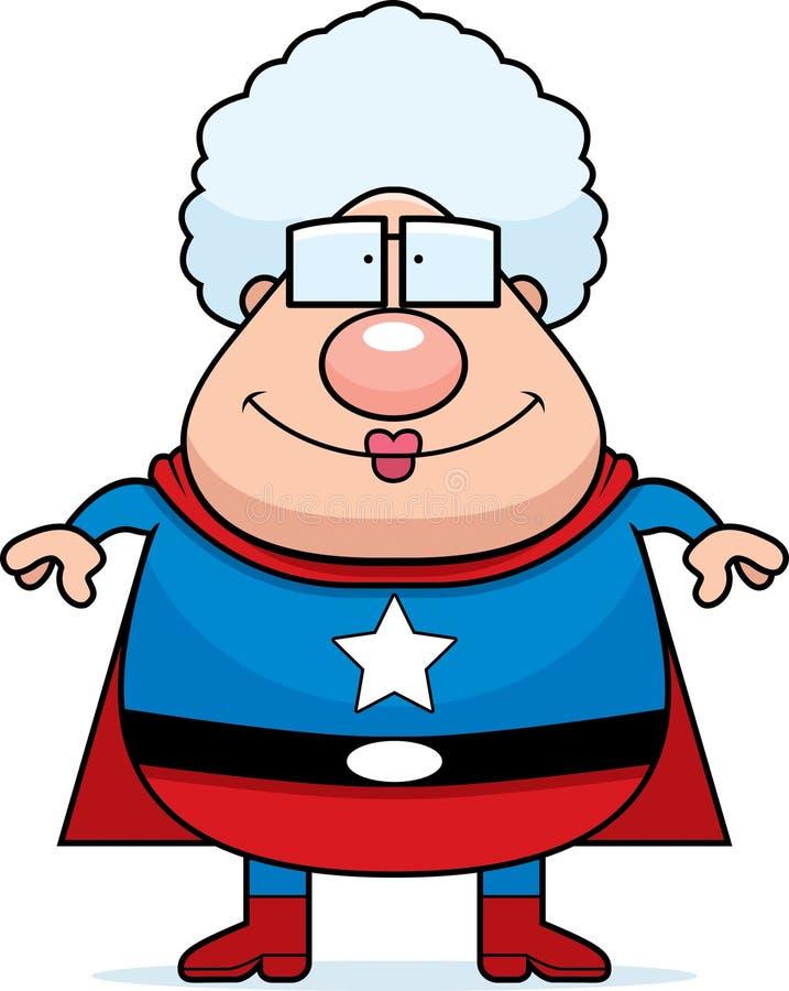 Avó do super-herói ilustração royalty free