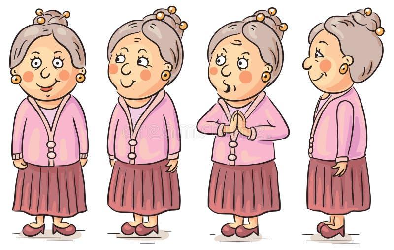 Avó dos desenhos animados ilustração royalty free