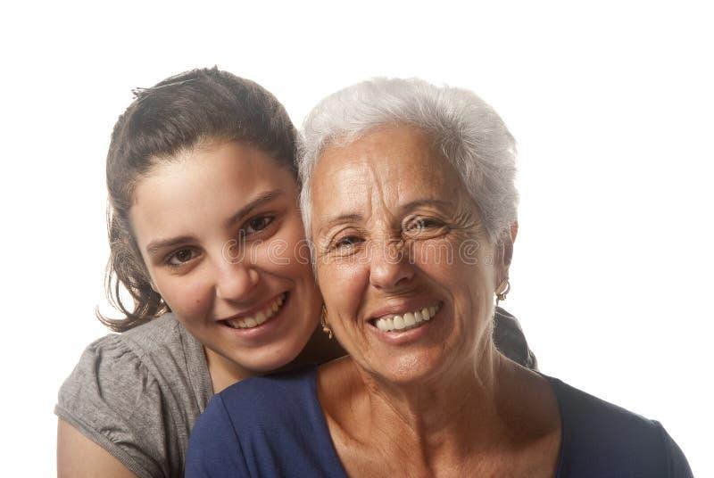 Avó e neta imagem de stock royalty free