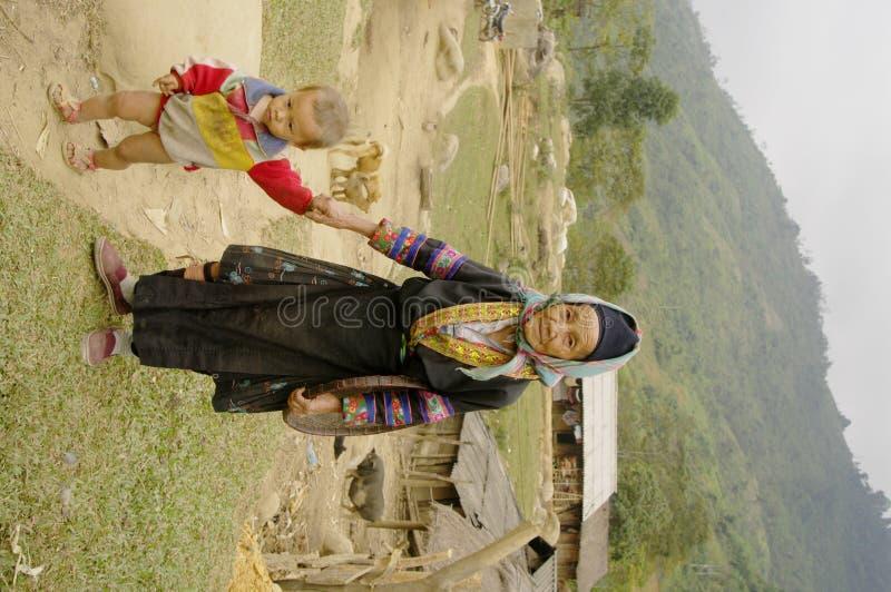 Avó e neto étnicos do La de Phu foto de stock royalty free