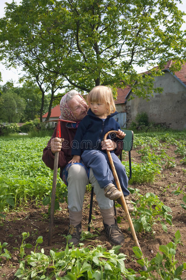 Download Avó e neto foto de stock. Imagem de grandma, velho, mulher - 10062952