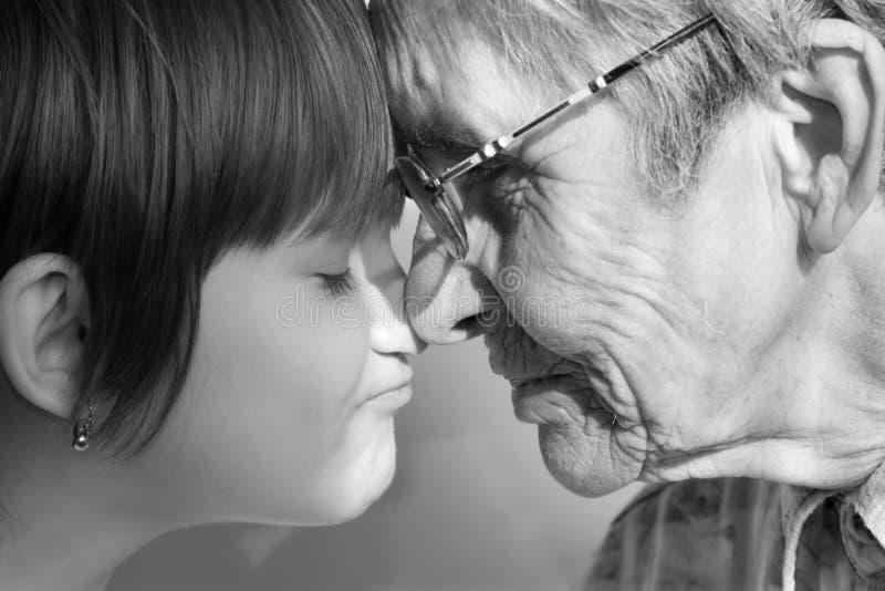 Avó e neto imagem de stock