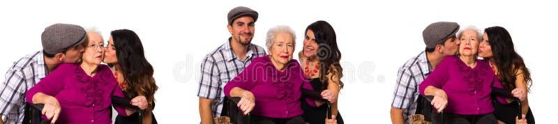 Avó e netos foto de stock