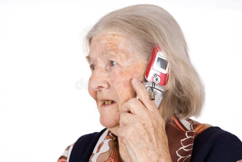 A avó fala fotos de stock royalty free