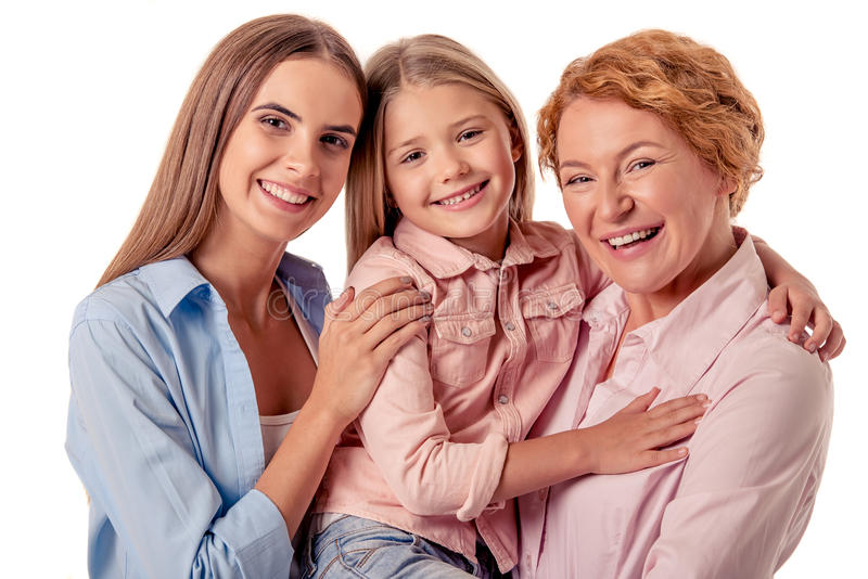 Avó, mamã e menina foto de stock royalty free