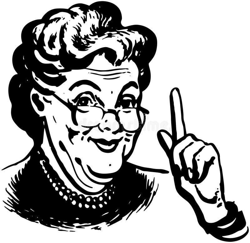 A avó sabe ilustração stock