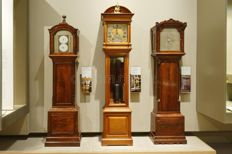 Avô Clocks tempo de contar no passado fotografia de stock