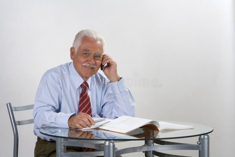 Avô do homem de negócios foto de stock royalty free