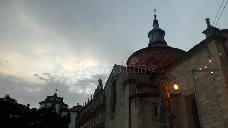 By av Amarante i Portugal royaltyfri bild