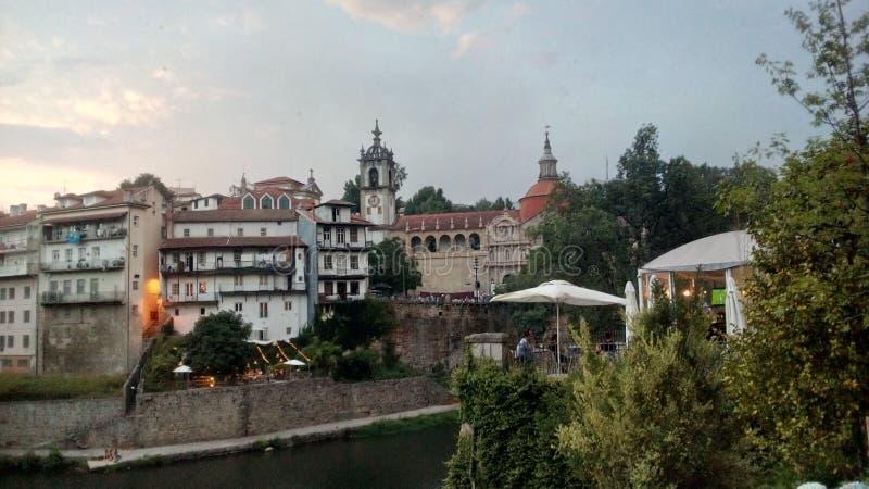 By av Amarante i Portugal royaltyfria foton