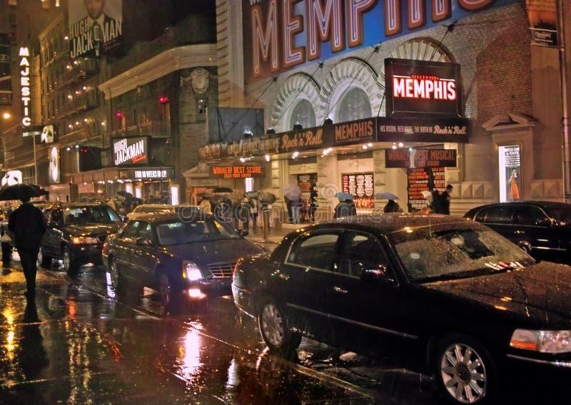 Av Broadway shower New York 23 November 2011 royaltyfri bild
