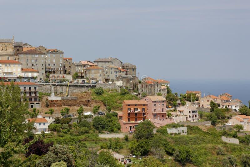 By av Cervione, Castagnicca, Costa Verde, nordliga Korsika, Frankrike royaltyfri fotografi