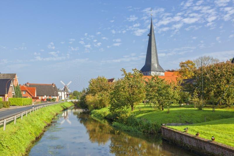 By av Jork, Altes landregion, lägre Sachsen arkivfoton