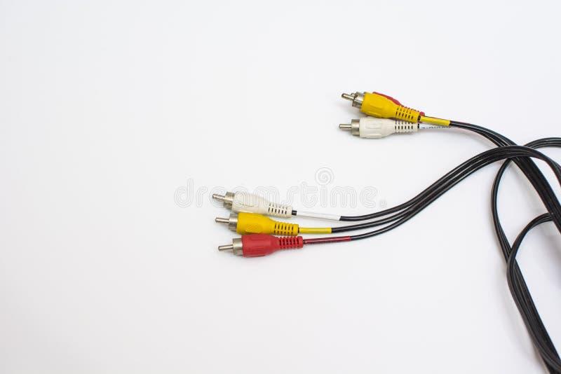 AV kabel royalty-vrije stock foto's
