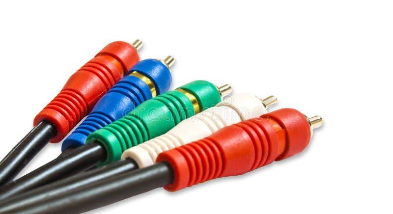 AV kabel stock afbeelding