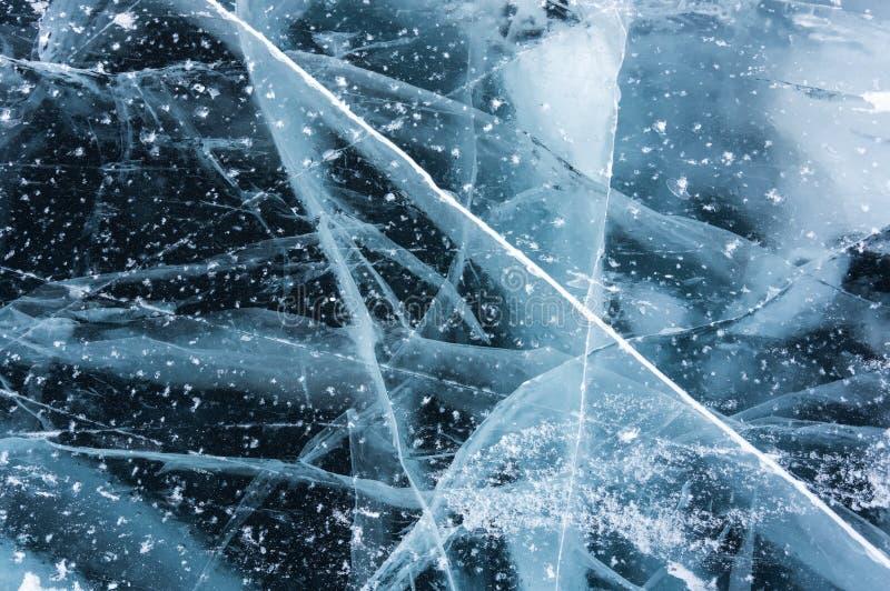 Is av Lake Baikal arkivfoto